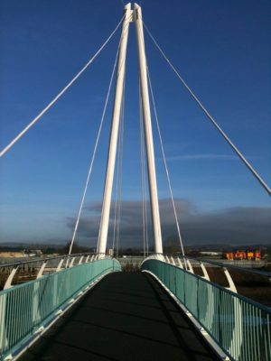New Newton Abbot cycle and walking bridge opens
